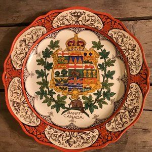 Wedgwood BANFF Canada Coat of Arms Plate ~1910